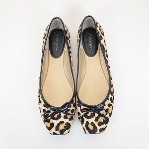 Halogen Pony Hair Leopard Ballet Flats-Size 8 1/2
